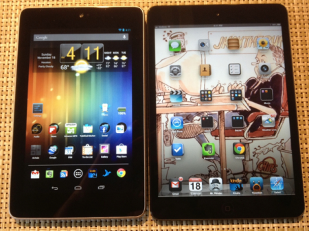 iPad mini e Nexus 7