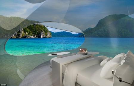 Doordat de Driftscape transparant is geniet je van een 360 graden uitzicht!