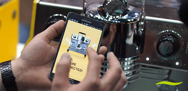 Econocom-afvaardiging op duurzaam koffiebezoek bij Peeze