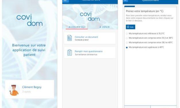 COVIDOM, l'appli santé destinée au suivi à domicile des patients atteints du COVID-19 développée par Econocom et Nouveal pour les Hôpitaux de Paris