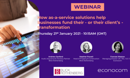 Webinar: how as-a-service solutions help businesses fund their - or their client's - transformation